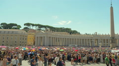 People listening Pope Francis in Vatican, Italy, 4k, UHD - stock footage