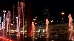 The United Arab Emirates city of Dubai 044 colorful fountains on Dubai Mall Stock Footage
