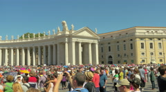 People listening Pope Francis in Vatican, Italy Stock Footage