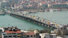 View from Galata Tower in Istanbul, Turkey Arkistovideo