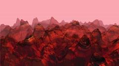 Wireframe Mountain VJ Loop MARS Stock Footage