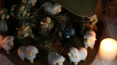Nativity Scene - dolly shot Stock Footage