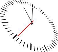 Clock isolated on white background Stock Illustration