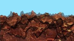 Wireframe Mountain VJ Loop DESERT Stock Footage