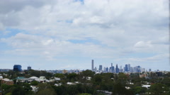 Looking down on Brisbane from a distance TL 4K Stock Footage