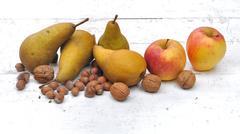 Seasonal fruits Stock Photos