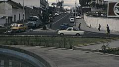 Quito 1979: traffic in the street Stock Footage