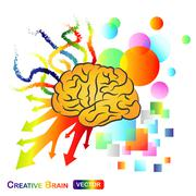 Creative / abstract brain Piirros