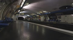 Wagram Tube Station Paris (Far Side) Stock Footage