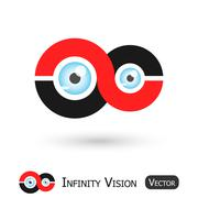 infinity vision ( infinity sign and eyeball ) - stock illustration