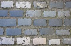 backgrounds grey cobbled path - stock photo