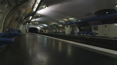 Wagram Tube Station Paris (Near Side) - stock footage