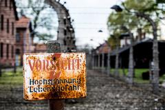 Auschwitz Concentration Camp - stock photo