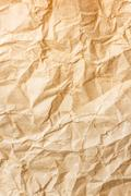 old brown crumpled paper - stock photo