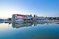 sukosan adriatic village waterfront view - stock photo