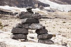standing stones rock cairn - stock photo