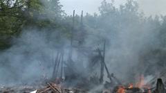 Smoldering Debris - stock footage