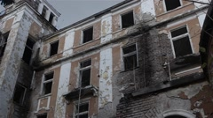 Abandoned Old Aristocratic Building Stock Footage
