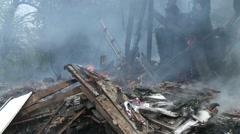 Burning Debris - stock footage