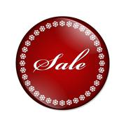 winter sale button - stock illustration