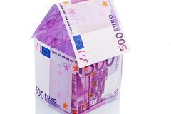 House of euro banknotes Stock Photos