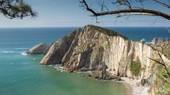 Stock Video Footage of 4k asturias beach silencio coast sea ocean