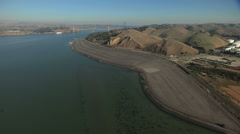 Aerial Stockton Carquinez Bridge San Pablo Bay California USA Stock Footage