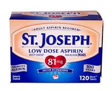st. joseph aspirin - stock photo
