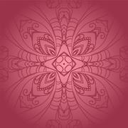 Vegetable dark pink flower ornament Stock Illustration