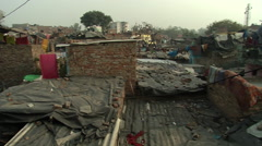 HD Panoramic shot - View of the roofs, Dehli Stock Footage