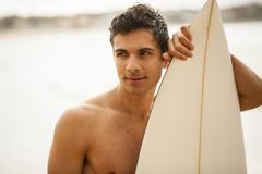 young italian surfer portrait - stock photo
