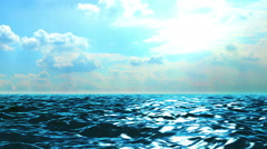 Ocean Motion Perfect Day Stock Footage