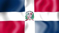 HD Waving flag - Dominican Republic Stock Footage