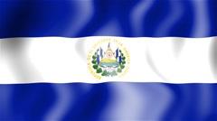 HD Waving flag - El Salvador Stock Footage