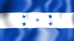 HD Waving flag - Honduras Stock Footage