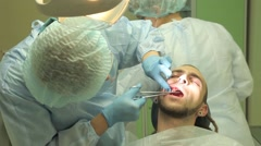 Surgical protocol of dental implants Stock Footage