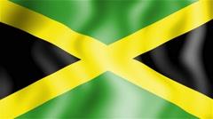 HD Waving flag - Jamaica Stock Footage