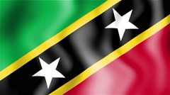 HD Waving flag - Saint Kitts and Nevis Stock Footage
