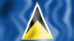 HD Waving flag - Saint Lucia Stock Footage