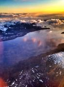 Aerial view of lake and mountains on Baranof Island, Sitka, Alaska, United Stock Photos