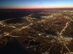 Aerial view of Chicago cityscape illuminated at night, Illinois, United States Kuvituskuvat