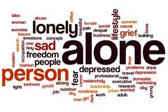 Stock Illustration of alone word cloud