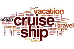 Stock Illustration of cruise ship word cloud
