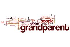 grandparent word cloud - stock illustration