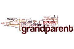 Stock Illustration of grandparent word cloud