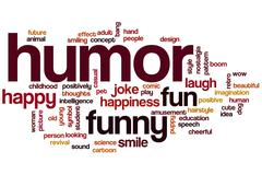 humor word cloud - stock illustration