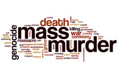 Stock Illustration of mass murder word cloud