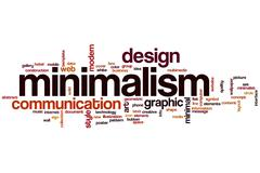 minimalism word cloud - stock illustration