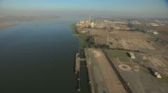 Aerial USA San Francisco ocean Bridge Antioch delta Stock Footage