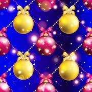 Stock Illustration of new year pattern with ball. christmas wallpaper
